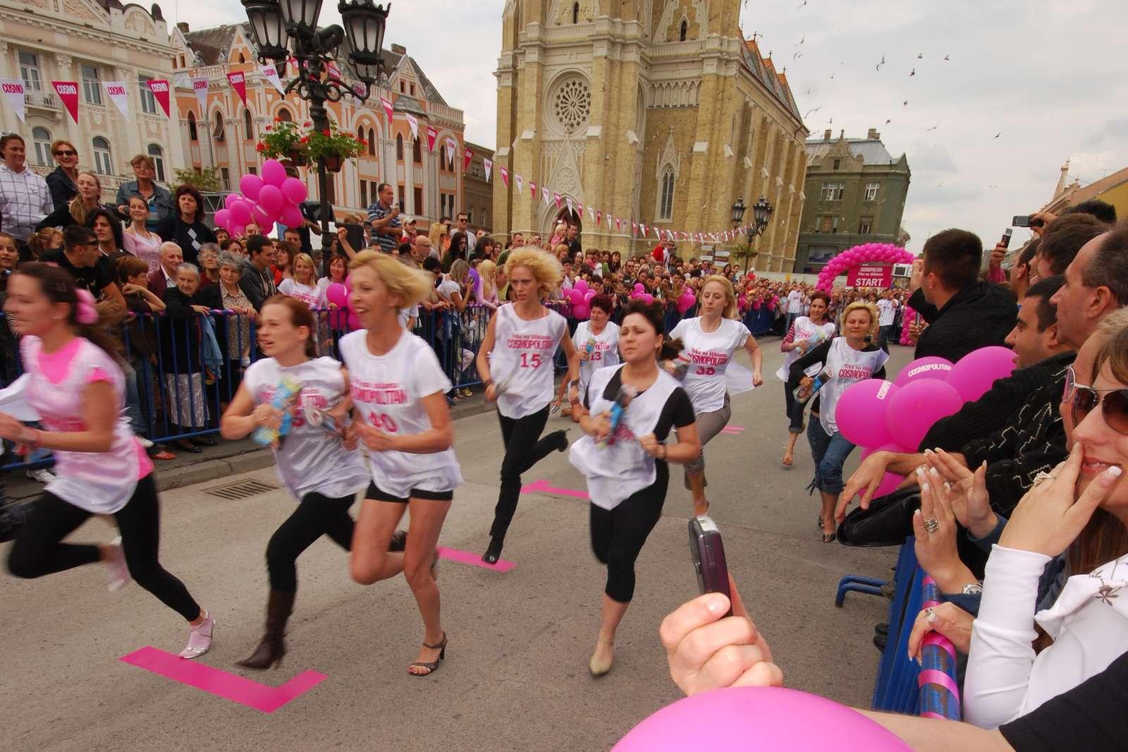 High-heel race in Novi Sad